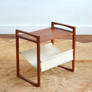 Table porte revues Kai Kristiansen teak 1960 vintage 28