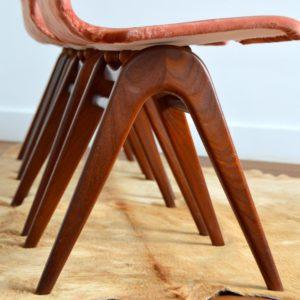4 chaises Louis van Teeffelen teck 1960 vintage 13