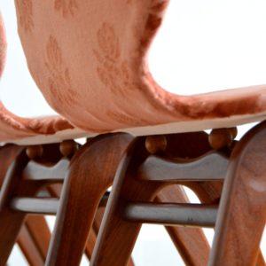 4 chaises Louis van Teeffelen teck 1960 vintage 14