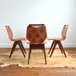 4 chaises Louis van Teeffelen teck 1960 vintage 39