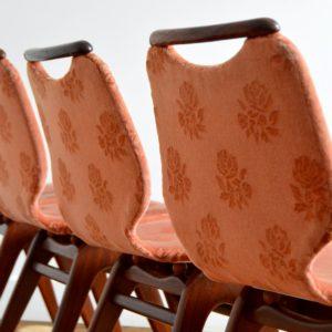 4 chaises Louis van Teeffelen teck 1960 vintage 5