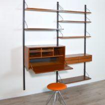Bibliothèque : Wall unit Poul Cadovius scandinave 1960 vintage 2