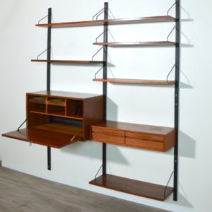 Bibliothèque : Wall unit Poul Cadovius scandinave 1960 vintage 38