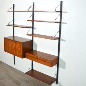 Bibliothèque : Wall unit Poul Cadovius scandinave 1960 vintage 40