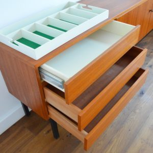 Enfilade : Buffet Musterring 1970 teck vintage 8