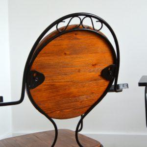 4 chaises de jardin bois et métal 1950 vintage 15