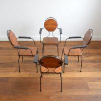 Suite de 4 chaises de jardin vintage 1950s