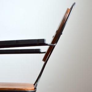 4 chaises de jardin bois et métal 1950 vintage 29
