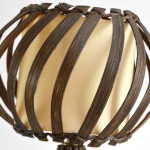 Lampe de table rotin Louis Sognot vintage 10