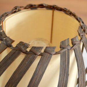 Lampe de table rotin Louis Sognot vintage 16