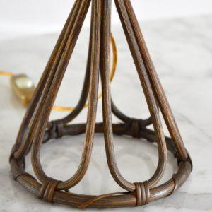 Lampe de table rotin Louis Sognot vintage 8