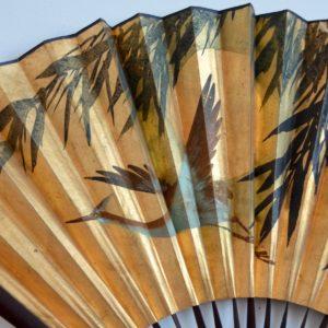 2 éventails dorés Chinois : Éventails mural vintage 22