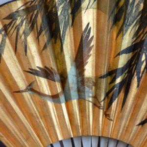 2 éventails dorés Chinois : Éventails mural vintage 35