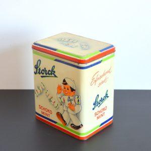 Ancienne Boîte publicitaire en métal Storck vintage 12