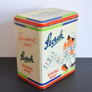 Ancienne Boîte publicitaire en métal Storck vintage 18