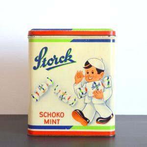 Ancienne Boîte publicitaire en métal Storck vintage 3
