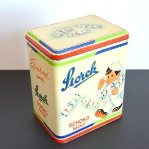 Ancienne Boîte publicitaire en métal Storck vintage 8