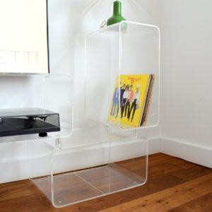 Bibliothèque cubes modulables en plexiglas Roche Bobois 1970 vintage 2