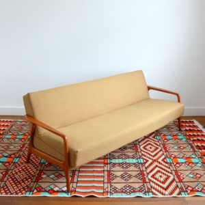 Canapé : Daybed Scandinave teck 1960 vintage 1
