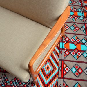 Canapé : Daybed Scandinave teck 1960 vintage 12