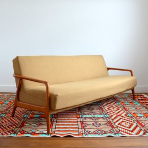 Canapé : Daybed Scandinave teck 1960 vintage 2