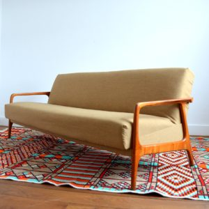 Canapé : Daybed Scandinave teck 1960 vintage 25