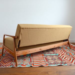 Canapé : Daybed Scandinave teck 1960 vintage 31