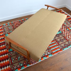 Canapé : Daybed Scandinave teck 1960 vintage 46