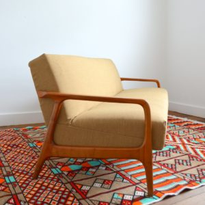 Canapé : Daybed Scandinave teck 1960 vintage 5