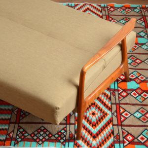 Canapé : Daybed Scandinave teck 1960 vintage 62