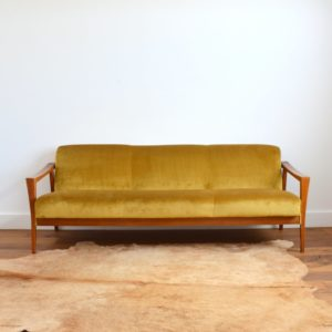 Canapé Daybed scandinave teck 1960 vintage 3