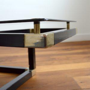 Table basse design Français années 70 : 80 vintage 17