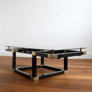 Table basse design Français années 70 : 80 vintage 44