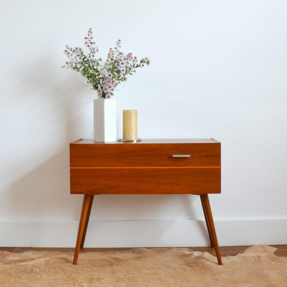 Petite console / Table d'appoint / Chevet vintage 1950s