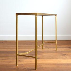 Console doré et verre style de Maison Jansen 1970 vintage 22