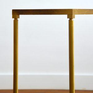 Console doré et verre style de Maison Jansen 1970 vintage 24