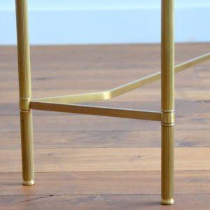 Console doré et verre style de Maison Jansen 1970 vintage 29
