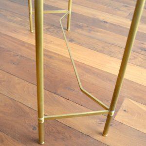 Console doré et verre style de Maison Jansen 1970 vintage 37