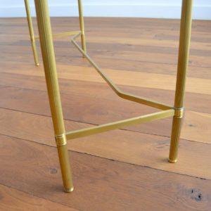 Console doré et verre style de Maison Jansen 1970 vintage 38