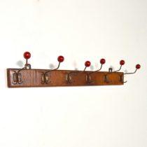 Porte manteau boules rouges 1950 vintage 5