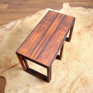 Table gigognes scandinave palissandre 1960 vintage 1