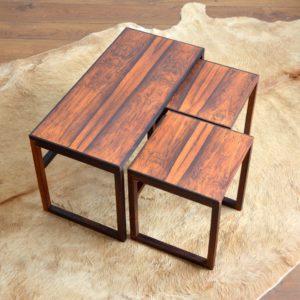 Table gigognes scandinave palissandre 1960 vintage 21