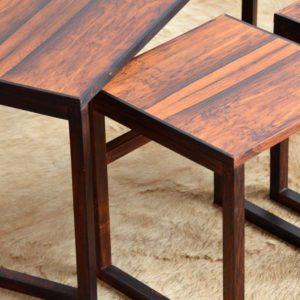 Table gigognes scandinave palissandre 1960 vintage 26