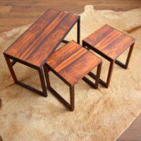 Table gigognes scandinave palissandre 1960 vintage 29