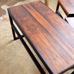 Table gigognes scandinave palissandre 1960 vintage 34
