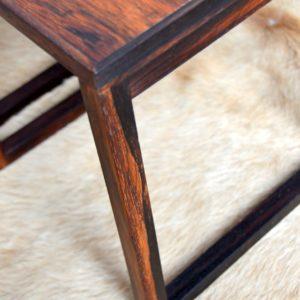 Table gigognes scandinave palissandre 1960 vintage 40